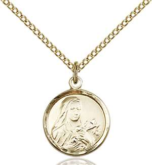 0601TGF/18GF <br/>Gold Filled St. Theresa Pendant