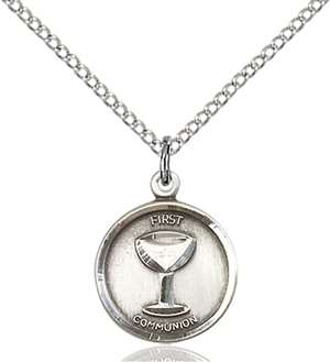 0601WSS/18SS <br/>Sterling Silver Communion Pendant