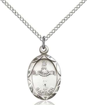 0612BASS/18SS <br/>Sterling Silver Baptism Pendant