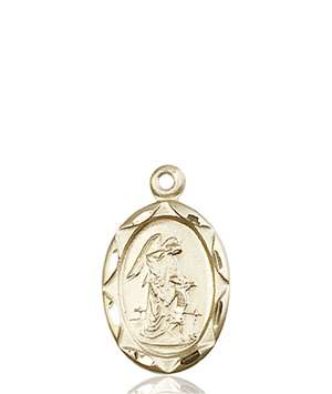 0612EKT <br/>14kt Gold Guardian Angel Medal