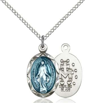 0612EMSS/18SS <br/>Sterling Silver Miraculous Pendant