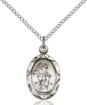 0612ESS/18SS <br/>Sterling Silver Guardian Angel Pendant