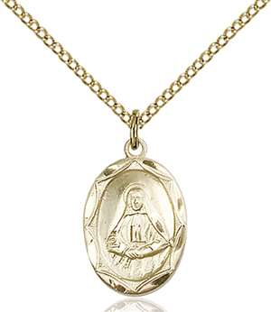 0612OGF/18GF <br/>Gold Filled St. Frances Cabrini Pendant