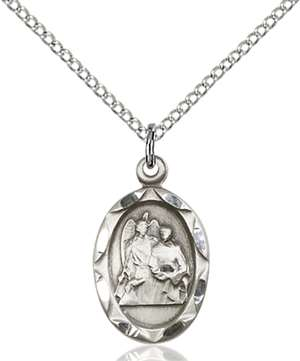 0612RASS/18SS <br/>Sterling Silver St. Raphael the Archangel Pendant