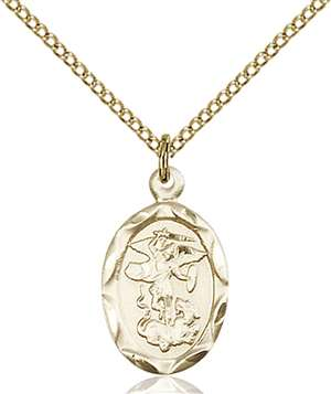 0612RGF/18GF <br/>Gold Filled St. Michael the Archangel Pendant