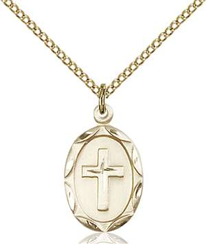 0612YGF/18GF <br/>Gold Filled Cross Pendant