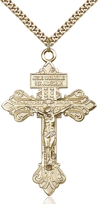 0632GF/24G <br/>Gold Filled Crucifix Pendant