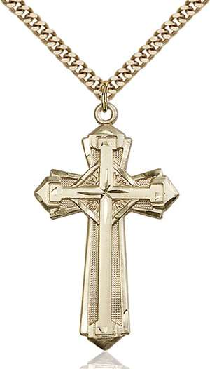 0650YGF/24G <br/>Gold Filled Cross Pendant