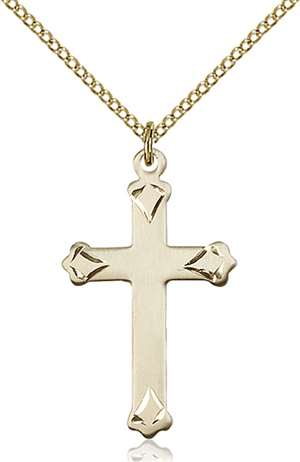 0651YGF/18GF <br/>Gold Filled Cross Pendant