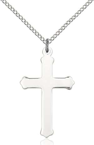 0651YSS1/18SS <br/>Sterling Silver Cross Pendant