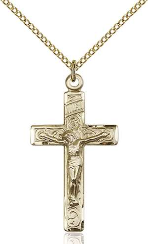 0652GF/18GF <br/>Gold Filled Crucifix Pendant