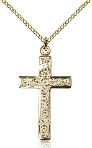 0652YGF/18GF <br/>Gold Filled Cross Pendant