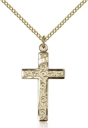 0653YGF/18GF <br/>Gold Filled Cross Pendant