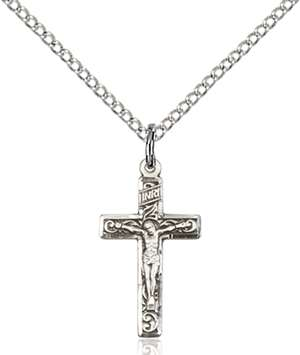 0672SS/18SS <br/>Sterling Silver Crucifix Pendant