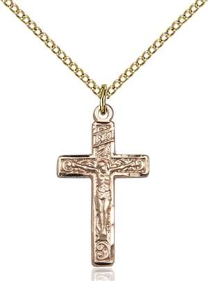 0673GF/18GF <br/>Gold Filled Crucifix Pendant
