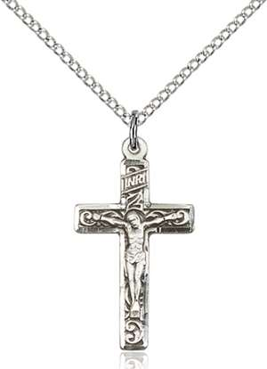 0673SS/18SS <br/>Sterling Silver Crucifix Pendant