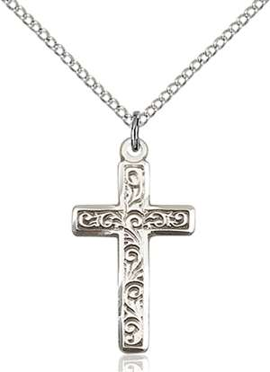 0673YSS/18SS <br/>Sterling Silver Cross Pendant