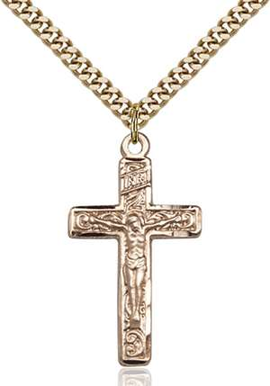 0674GF/24G <br/>Gold Filled Crucifix Pendant