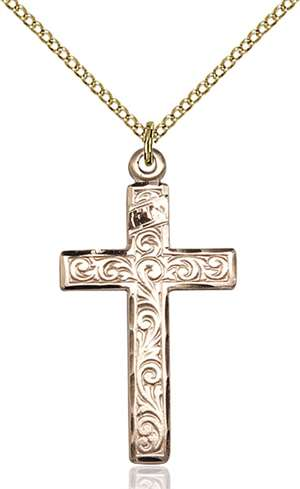 0674YGF/18GF <br/>Gold Filled Cross Pendant