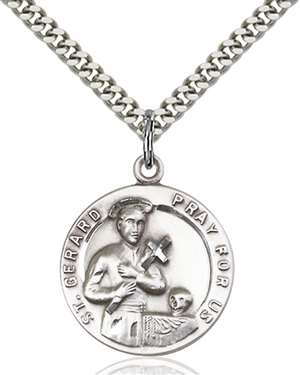 0701GSS/24S <br/>Sterling Silver St. Gerard Pendant