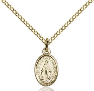 0702MGF/18GF <br/>Gold Filled Miraculous Pendant