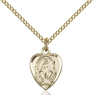 0706MGF/18GF <br/>Gold Filled Miraculous Pendant