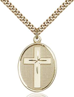 0783GF/24G <br/>Gold Filled Cross Pendant