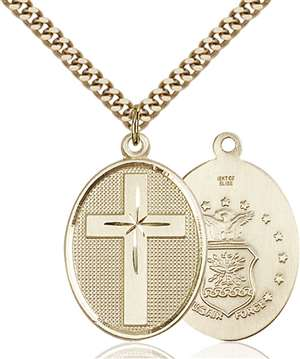 0783GF1/24G <br/>Gold Filled Cross / Air Force Pendant
