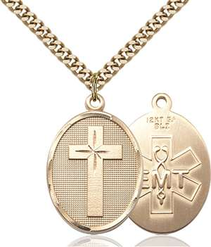 0783GF10/24G <br/>Gold Filled Cross / Emt Pendant