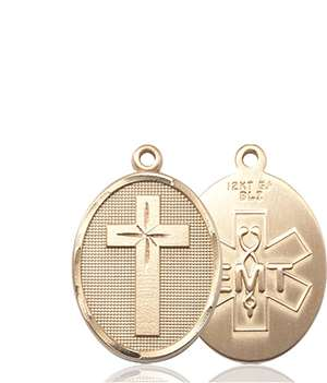 0783KT <br/>14kt Gold Cross Medal