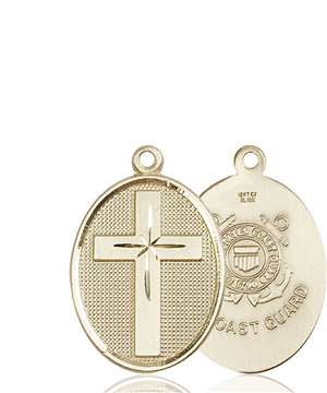 0783KT3 <br/>14kt Gold Cross / Coast Guard Medal