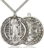1057SS/24S <br/>Sterling Silver St. Benedict Pendant
