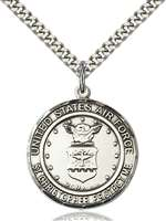 1182SS1/24S <br/>Sterling Silver AIR FORCE/ST. CHRISTOPHER Pendant