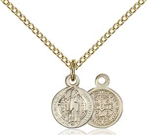 2341GF/18GF <br/>Gold Filled St. Benedict Pendant