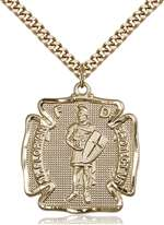 5445GF/24G <br/>Gold Filled St. Florian Pendant