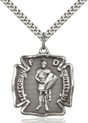 5445SS/24S <br/>Sterling Silver St. Florian Pendant