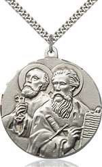5660SS/24S <br/>Sterling Silver Sts. Peter & Paul Pendant