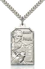5730SS/24S <br/>Sterling Silver St. Paul the Apostle Pendant