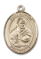 St. Albert the Great Medal<br/>7001 Oval, 14kt Gold