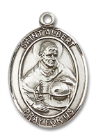 St. Albert the Great Medal<br/>7001 Oval, Sterling Silver