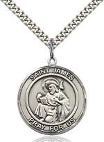 St. James the Greater Medal<br/>7050 Round, Sterling Silver