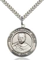 St. Maximilian Kolbe Medal<br/>7073 Round, Sterling Silver