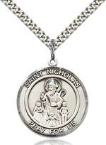 St. Nicholas Medal<br/>7080 Round, Sterling Silver