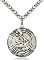 St. William of Rochester Medal<br/>7114 Round, Sterling Silver