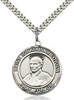 St. Ignatius of Loyola Medal<br/>7217 Round, Sterling Silver