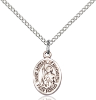 St. Adrian Of Nicomedia Medal<br/>9353 Oval, Sterling Silver