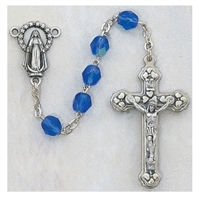 6MM AB SAPPHIRE/SEPT ROSARY