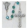 6MM AURORA BOREALIS EMERALD MAY ROSARY
