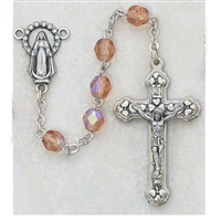 6MM AURORA BOREALIS ROSE OCTOBER ROSARY