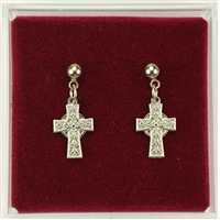 RF CELTIC CROSS EARRINGS